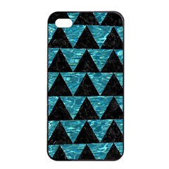 Triangle2 Black Marble & Blue Green Water Apple Iphone 4/4s Seamless Case (black) by trendistuff