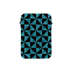 Triangle1 Black Marble & Blue Green Water Apple Ipad Mini Protective Soft Case by trendistuff