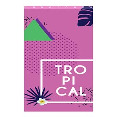 Behance Feelings Beauty Polka Dots Leaf Triangle Tropical Pink Shower Curtain 48  X 72  (small)  by Mariart