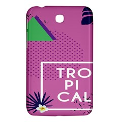 Behance Feelings Beauty Polka Dots Leaf Triangle Tropical Pink Samsung Galaxy Tab 3 (7 ) P3200 Hardshell Case  by Mariart