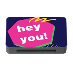 Behance Feelings Beauty Hey You Leaf Polka Dots Pink Blue Memory Card Reader With Cf by Mariart