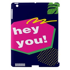 Behance Feelings Beauty Hey You Leaf Polka Dots Pink Blue Apple Ipad 3/4 Hardshell Case (compatible With Smart Cover) by Mariart