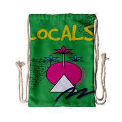 Behance Feelings Beauty Local Polka Dots Green Drawstring Bag (small) by Mariart