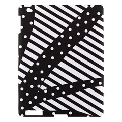 Ambiguous Stripes Line Polka Dots Black Apple Ipad 3/4 Hardshell Case by Mariart