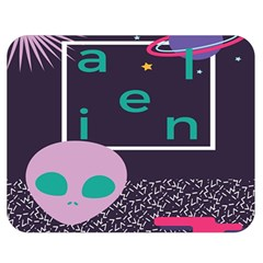 Behance Feelings Beauty Space Alien Star Galaxy Double Sided Flano Blanket (medium)  by Mariart