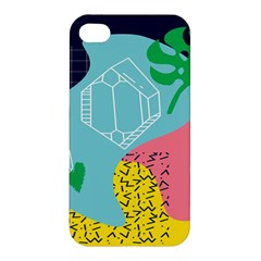 Behance Feelings Beauty Waves Blue Yellow Pink Green Leaf Apple Iphone 4/4s Premium Hardshell Case by Mariart