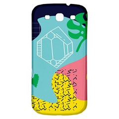 Behance Feelings Beauty Waves Blue Yellow Pink Green Leaf Samsung Galaxy S3 S Iii Classic Hardshell Back Case by Mariart