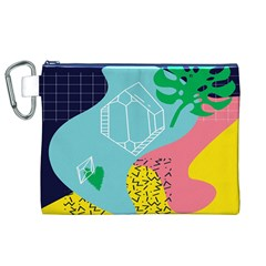 Behance Feelings Beauty Waves Blue Yellow Pink Green Leaf Canvas Cosmetic Bag (xl) by Mariart