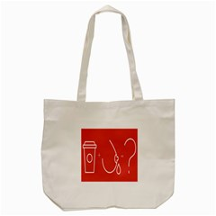 Caffeine And Breastfeeding Coffee Nursing Red Sign Tote Bag (cream) by Mariart
