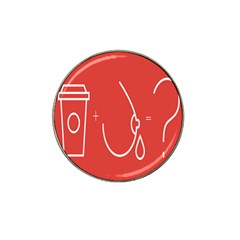 Caffeine And Breastfeeding Coffee Nursing Red Sign Hat Clip Ball Marker (4 Pack) by Mariart