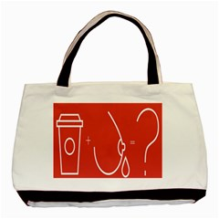 Caffeine And Breastfeeding Coffee Nursing Red Sign Basic Tote Bag by Mariart