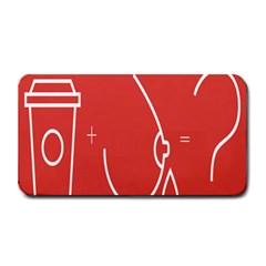 Caffeine And Breastfeeding Coffee Nursing Red Sign Medium Bar Mats by Mariart