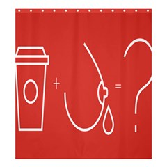 Caffeine And Breastfeeding Coffee Nursing Red Sign Shower Curtain 66  X 72  (large)  by Mariart