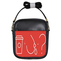 Caffeine And Breastfeeding Coffee Nursing Red Sign Girls Sling Bags by Mariart
