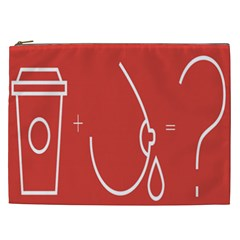 Caffeine And Breastfeeding Coffee Nursing Red Sign Cosmetic Bag (xxl)  by Mariart