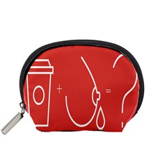 Caffeine And Breastfeeding Coffee Nursing Red Sign Accessory Pouches (small)  by Mariart