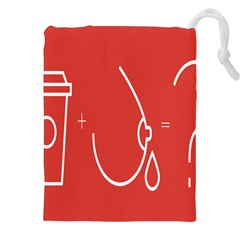 Caffeine And Breastfeeding Coffee Nursing Red Sign Drawstring Pouches (xxl) by Mariart