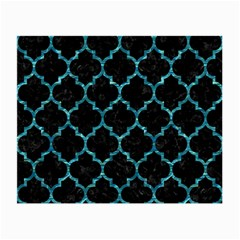 Tile1 Black Marble & Blue Green Water Small Glasses Cloth (2 Sides) by trendistuff