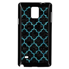 Tile1 Black Marble & Blue Green Water Samsung Galaxy Note 4 Case (black) by trendistuff