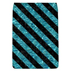 Stripes3 Black Marble & Blue Green Water (r) Removable Flap Cover (s) by trendistuff