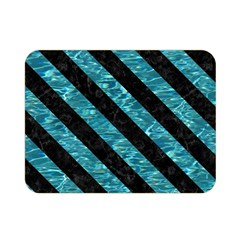 Stripes3 Black Marble & Blue Green Water (r) Double Sided Flano Blanket (mini) by trendistuff