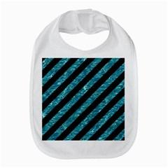 Stripes3 Black Marble & Blue Green Water Bib by trendistuff