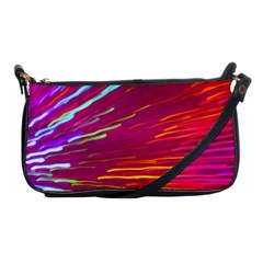 Zoom Colour Motion Blurred Zoom Background With Ray Of Light Hurtling Towards The Viewer Shoulder Clutch Bags by Mariart