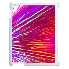 Zoom Colour Motion Blurred Zoom Background With Ray Of Light Hurtling Towards The Viewer Apple Ipad 2 Case (white) by Mariart