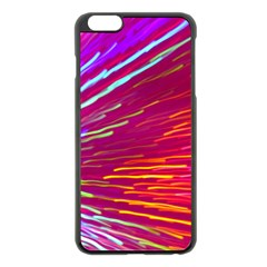 Zoom Colour Motion Blurred Zoom Background With Ray Of Light Hurtling Towards The Viewer Apple Iphone 6 Plus/6s Plus Black Enamel Case by Mariart