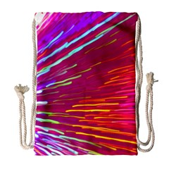 Zoom Colour Motion Blurred Zoom Background With Ray Of Light Hurtling Towards The Viewer Drawstring Bag (large) by Mariart