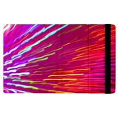 Zoom Colour Motion Blurred Zoom Background With Ray Of Light Hurtling Towards The Viewer Apple iPad Pro 9.7   Flip Case by Mariart