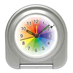 Colour Value Diagram Circle Round Travel Alarm Clocks by Mariart