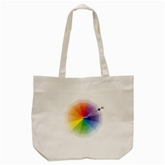 Colour Value Diagram Circle Round Tote Bag (cream) by Mariart