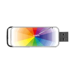 Colour Value Diagram Circle Round Portable Usb Flash (one Side) by Mariart