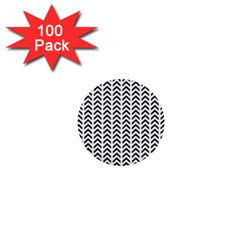 Chevron Triangle Black 1  Mini Buttons (100 Pack)  by Mariart