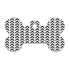 Chevron Triangle Black Dog Tag Bone (two Sides) by Mariart