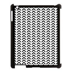 Chevron Triangle Black Apple Ipad 3/4 Case (black) by Mariart