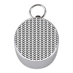Chevron Triangle Black Mini Silver Compasses by Mariart