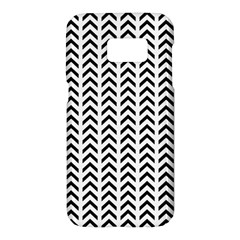Chevron Triangle Black Samsung Galaxy S7 Hardshell Case  by Mariart