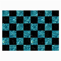Square1 Black Marble & Blue Green Water Large Glasses Cloth by trendistuff