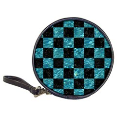 Square1 Black Marble & Blue Green Water Classic 20 Cd Wallet by trendistuff
