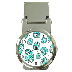 Brilliant Diamond Green Blue White Money Clip Watches by Mariart