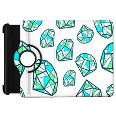 Brilliant Diamond Green Blue White Kindle Fire Hd 7  by Mariart