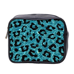 Skin5 Black Marble & Blue Green Water Mini Toiletries Bag (two Sides) by trendistuff