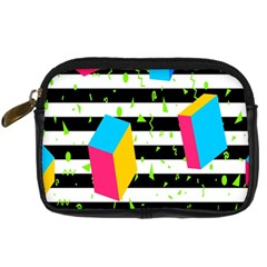 Cube Line Polka Dots Horizontal Triangle Pink Yellow Blue Green Black Flag Digital Camera Cases by Mariart