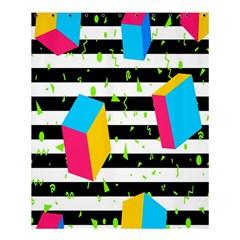 Cube Line Polka Dots Horizontal Triangle Pink Yellow Blue Green Black Flag Shower Curtain 60  X 72  (medium)  by Mariart