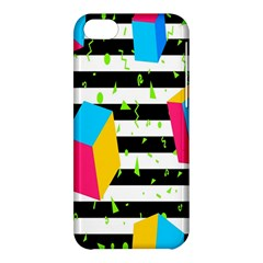 Cube Line Polka Dots Horizontal Triangle Pink Yellow Blue Green Black Flag Apple Iphone 5c Hardshell Case by Mariart
