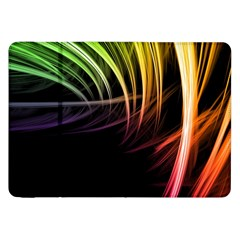 Colorful Abstract Fantasy Modern Green Gold Purple Light Black Line Samsung Galaxy Tab 8 9  P7300 Flip Case by Mariart