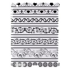 Black White Decorative Ornaments Apple Ipad 3/4 Hardshell Case (compatible With Smart Cover) by Mariart