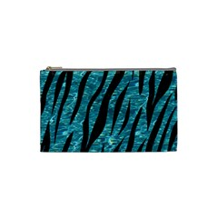 Skin3 Black Marble & Blue Green Water (r) Cosmetic Bag (small) by trendistuff